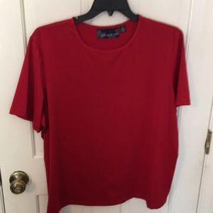 Susan Graver 2x red dressy T-shirt